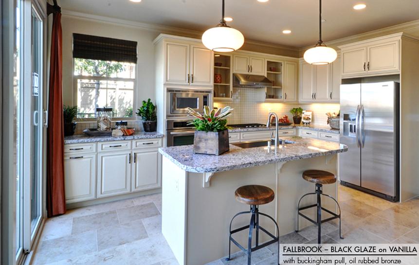 Black Kitchen Cabinets With White Appliances Vanilla Cream photo - 2