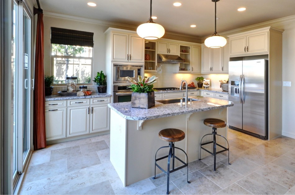 Custom kitchen cabinets island design and installation for Bath remodel peoria il